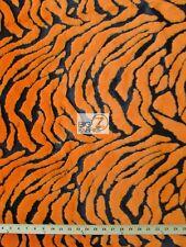 TIGER SHAGGY FAUX FUR FABRIC-Orange (LONG PILE FUR)-SOLD BTY MONGOLIAN