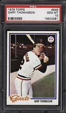 1978 Topps #648 Gary Thomasson - Giants - PSA 10 - 18503381