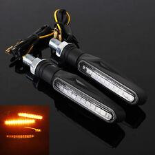 2Pcs Moto 12 LED Indicateur de signal Clignotant de Lumière Éclaire Jaune