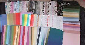 clear out, 260 sheets  A4,backing papers/ card, foiled, pearl & coloured card