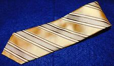ERMENEGILDO ZEGNA SEVEN FOLD MULTI COLOR STRIPED TIE - NECKWEAR - DESIGNER TIES.