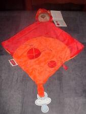 Doudou plat Lion rouge orange attache tétine Nattou Neuf  2 disponibles