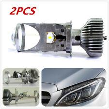 2pcs Headlight 60W Mini H4 LED Projector Len Car/Motorcycle Lamp 6000k w/Drivers