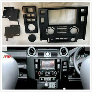 Double Din Dash Nav Head Unit Fascia Panel Kit For Land Rover Defender 90 / 110