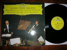 NM  MOZART Piano Concertos K.488/459 POLLINI / BÖHM VIENNA DGG LP 1976