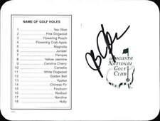 J. B. Holmes authentic signed PGA Masters scorecard W/Cert Autographed A0005