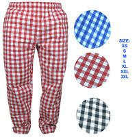 Chef Trousers 100% Cotton Catering Pants catering Kitchen Trousers LARGE CHECK