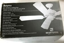 "Sea Gull Lighting Bayou Outdoor Wet/Damp 5 Blade Ceiling Fan White 42"" 1525-15"