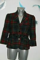 luxueuse veste écossaise laine HUGO BOSS taille 40 fr 44i VINTAGE parfait état