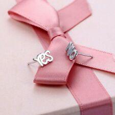Süße Ohrringe Ohrstecker Yes und No - Ja und Nein Buchstaben in Silber