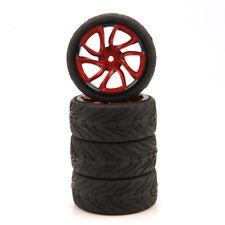 RC HSP HPI 1/10 On-Road Car Racing Tires 62.5mm Tyre & Wheel Rim TRNKR 4Pcs