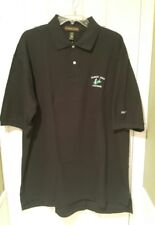 MENS POLO SHIRT FAMILY GOLF CENTERS LOGO BLACK SIZE 2XL BRAND NEW WITH TAGS!