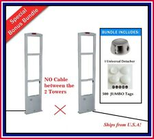 Wireless Double Door /500 Jumbo Tag + Eas Rf Retail Anti Theft Security System