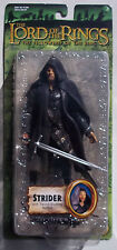 LOTR STRIDER ACTION FIGURE. FELLOWSHIP OF THE RING. W/ SWORD SLASHING ACTION NOC
