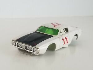 AFX AURORA DODGE CHARGER # 11 WHITE VINTAGE HO SLOT CAR BODY ONLY