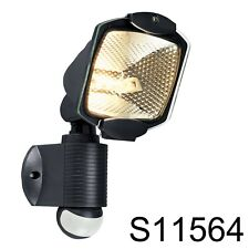 Black Eco Halogen Energy Saving PIR Outdoor Security Light