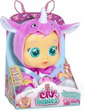 Cry Babies Sasha The Rhino Baby Doll, Exclusive, Pink Kids Toys Gifts