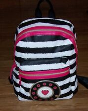 "*SALE* Betsey Johnson Mix Match STRIPE Backpack ""CALL ME"" School Bag Bookbag"