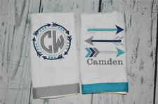 Personalized Tribal Arrow Burp Cloth set 2  Burp Cloths, Baby Boy Burpie Teal