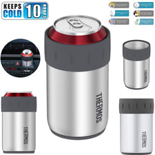 12oz Can Beer Cooler Keeper Insulator Holder Thermos Opener Stainless Steel Cold