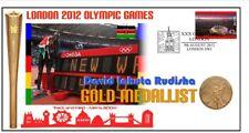 DAVID RUDISHA 2012 OLYMPIC KENYA 800m GOLD MEDAL COVER
