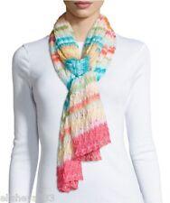$575 Missoni Striped Zigzag Long Scarf Multi-Color Italy Italian Knit  Zig Zag