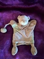 Doudou plat marionnette Mr ours beige marron BABY NAT babynat