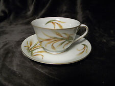 PURITAN CHINA CUP & SAUCER IN WHEAT Pattern  made  in Japan, Excellent
