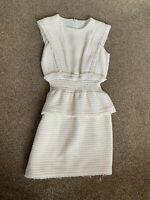 Maje Tweed Peplum Dress Size 1 (eu 36, Uk 8)