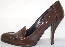 GIORGIO ARMANI Brown Patent Leather Pumps Shoes 39 9