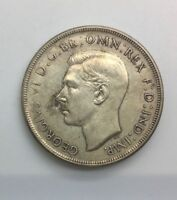 Australia 1937 Silver Crown George VI Coronation Light Toned Collector Coin #2