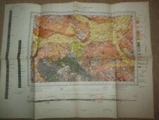 Vintage Geological Survey Map of Loughborough, Derby (1952) Ordnance, Derbyshire
