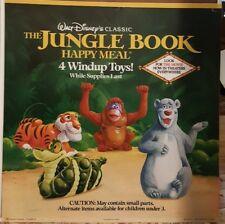 McDonalds 1990 Disney Jungle Book Advertisement double sided sign RARE