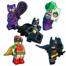 Batman LEGO Movie Stickers - Batman Stickers x 5 - Birthday Party Favours Shaped