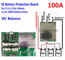 3S 100A PCB BMS Protection Balance Board Li-ion Lithium 18650 Battery Cell 11.1V