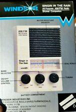 Vintage Windsor Am/Fm Shower Radio Water Resistant 4087 Singin in the Rain