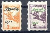 HUNGARY ZEPPELIN Yv#A24/5 Complete Set MLH