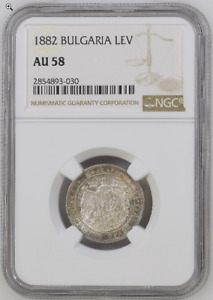 Bulgaria 1 Lev 1882 Silver NGC AU58 KM# 4