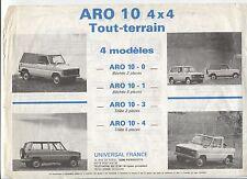 N°5494/ prospectus ARO 10  4x4 tout terrain