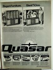 QUASAR HOME ENTERTAINMENT PRODUCTS  VTG 1980 AD, RARE SOUGHT EPHEMERA