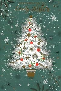 CHRISTMAS CARD TO A LOVELY SISTER - DECORATED CHRISTMAS TREE