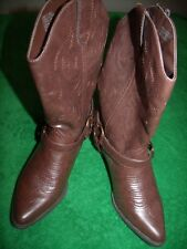 Women's So man made western strap and buckle boots size 7.5M