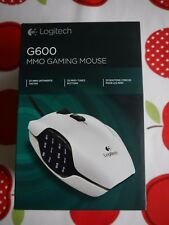 Logitech G600 MMO Optical Gaming Mouse weiß, USB (910-002872) weiss
