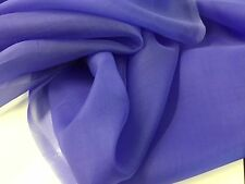 "NEW Ink Blue 100% Silk Organza Fabric 55"" 141 cm Dress Scarf Material Cloth Sew"