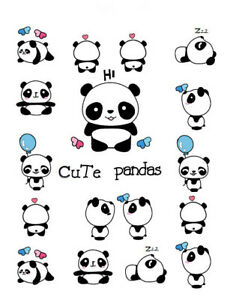 Panda Cartoon Temporary Tattoo Sticker Waterproof Teens Kids Child Party Favor