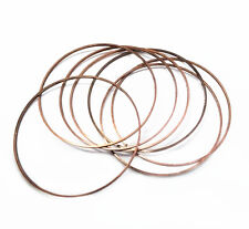 12pc 40mm antique copper finish smooth metal ring-4388A