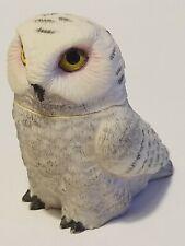 Harmony Ball Kingdom Pot Bellys Figurine Snowy Owl 2005 Trinket Box w/Ghost
