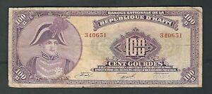 Haiti - One Hundred (100) Gourdes 1973  L.1979