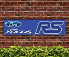 Ford Focus RS Blue PVC Banner Garage Workshop Car MK2 MK3 Sign (BANPN00092)