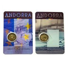 2 x 2 Euro Sondermünzen Andorra 2015 Zollunion Volljährigkeit
